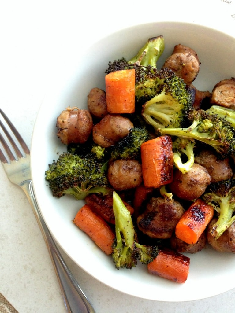 ... Sausage with Roasted Broccoli and Carrots - The Wheatless Kitchen