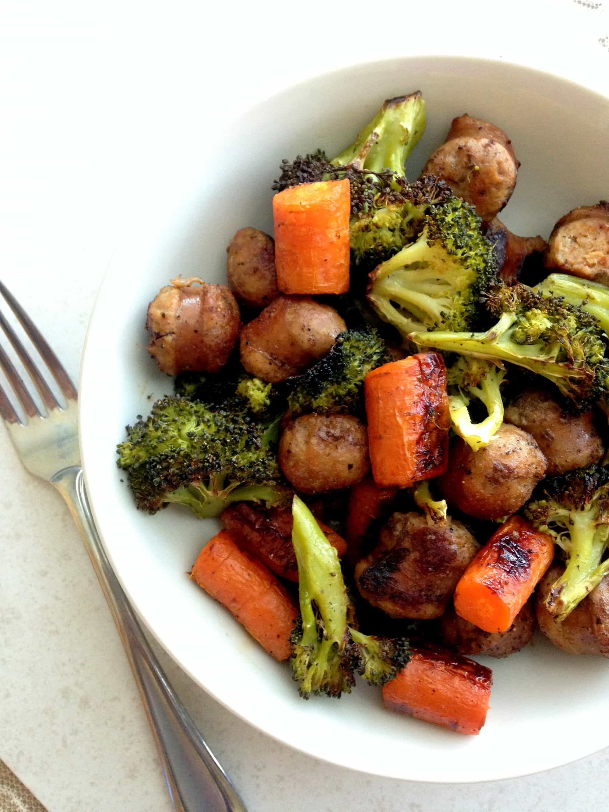 ... my roasted broccoli carrots and carrots and broccoli roasted