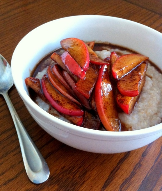 Hot Buckwheat Cereal with Maple Cinnamon Apples