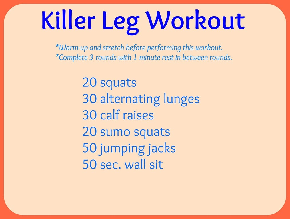Killer Leg Workout + A Guide to Foam Rolling