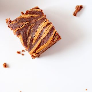 Peanut Butter Swirl Chocolate Protein Brownies