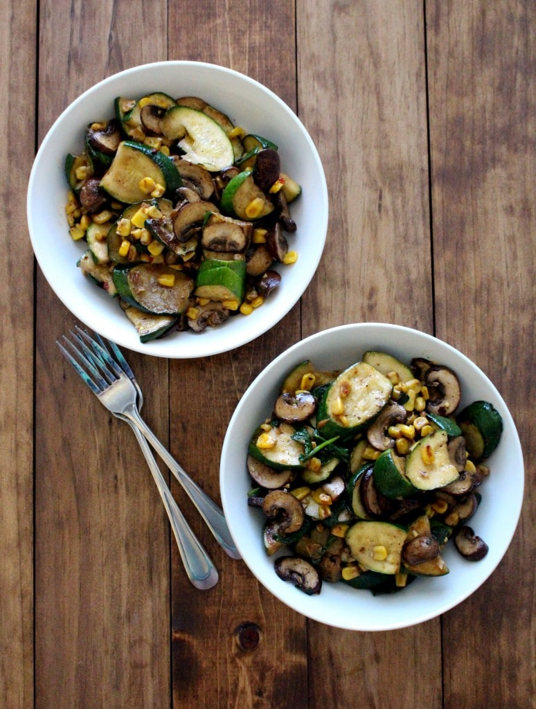 Warm Zucchini and Corn Salad