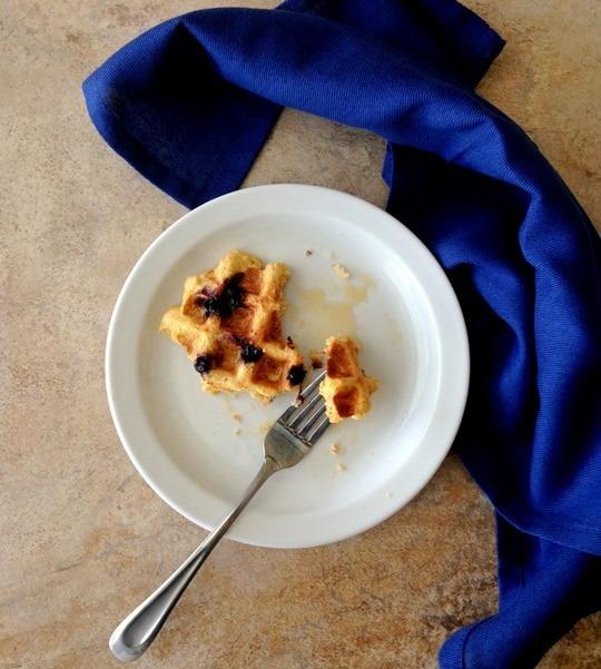 Blueberry Cornmeal-Oat Waffles - The Wheatless Kitchen