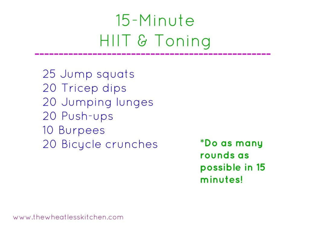 15 minute hiit and toning