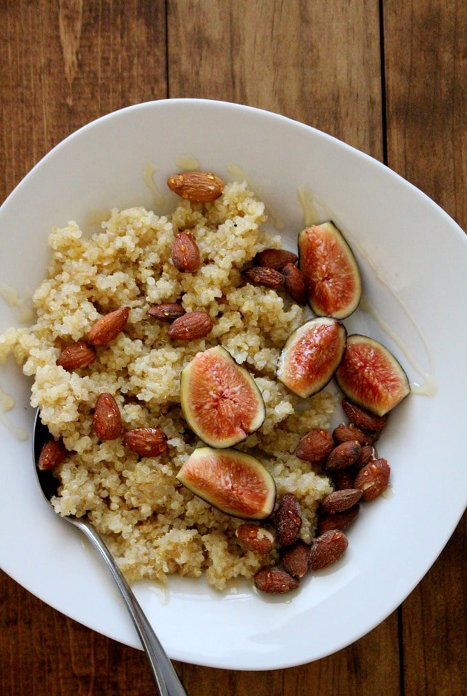 Breakfast Quinoa with Figs and Honey