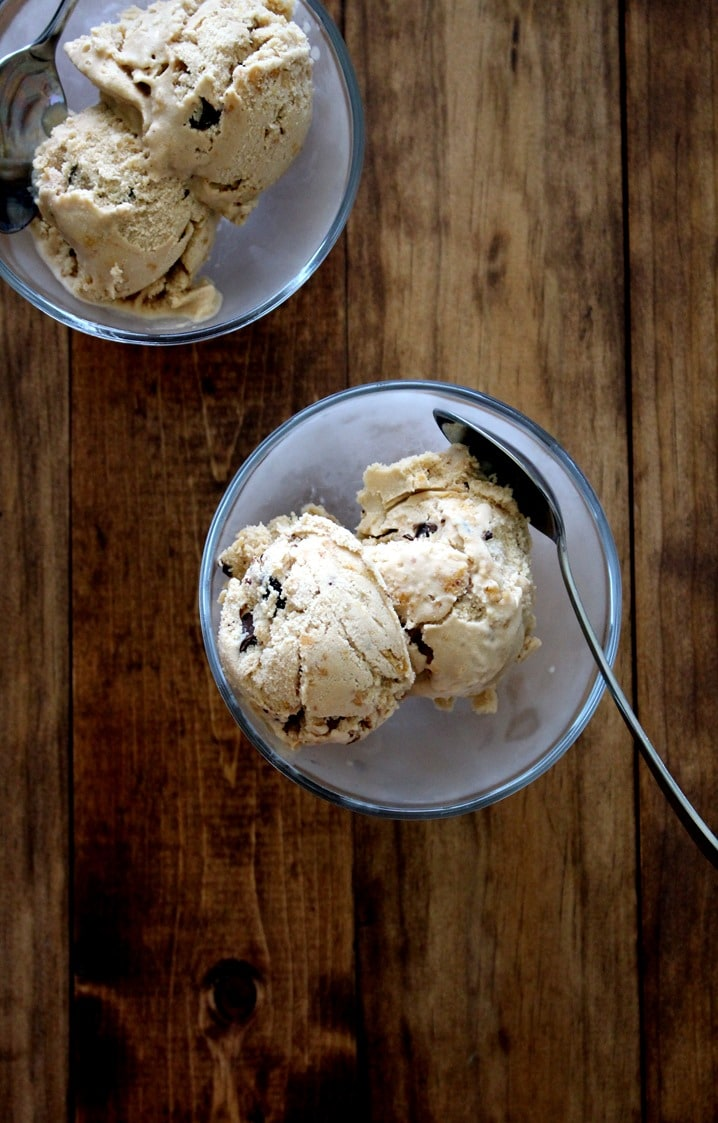 Vegan Peanut Butter Chocolate Chip Cookie Dough Ice Cream