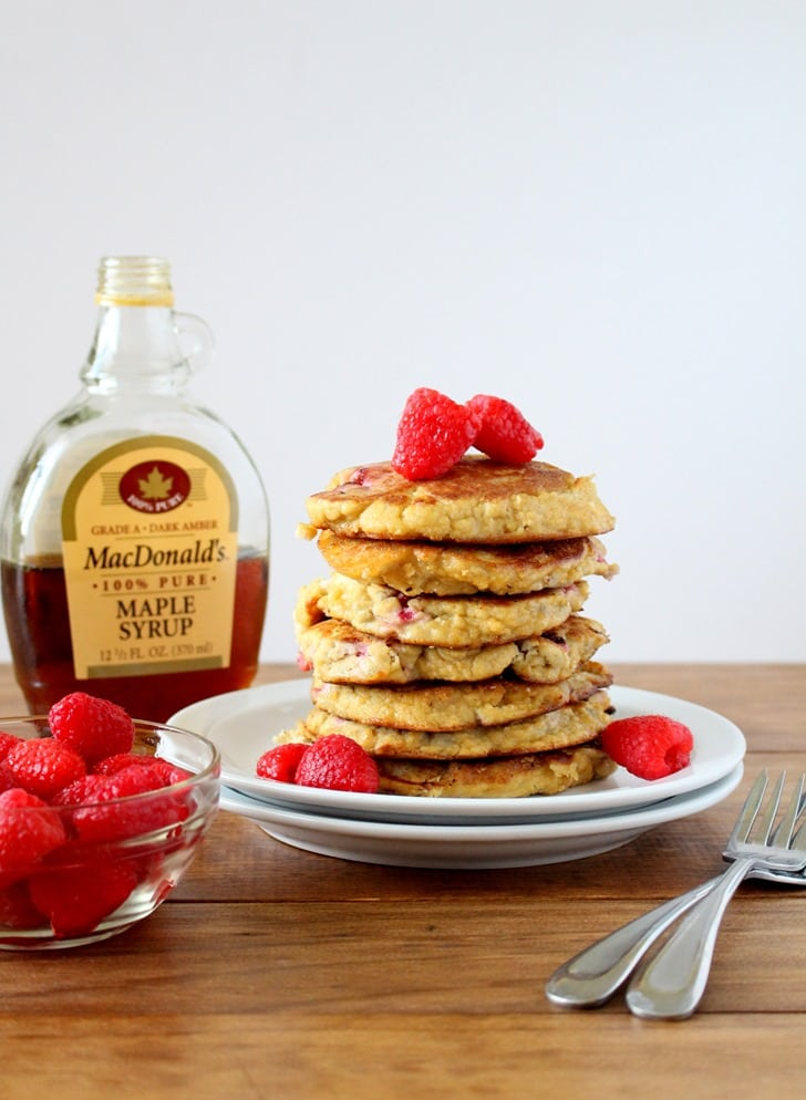 Raspberry Lemon Coconut Flour Pancakes