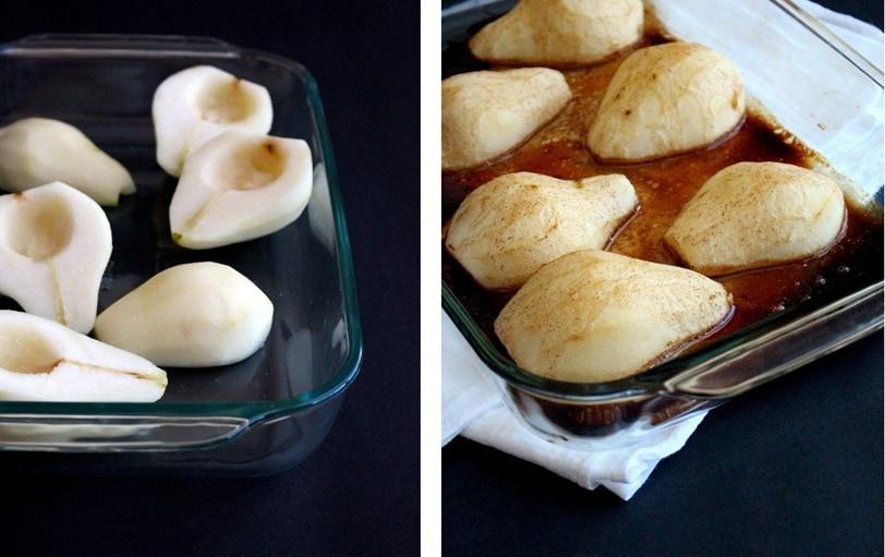Baked Pears with Cinnamon & Honey
