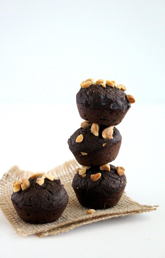 Flourless Black Bean Brownie Bites
