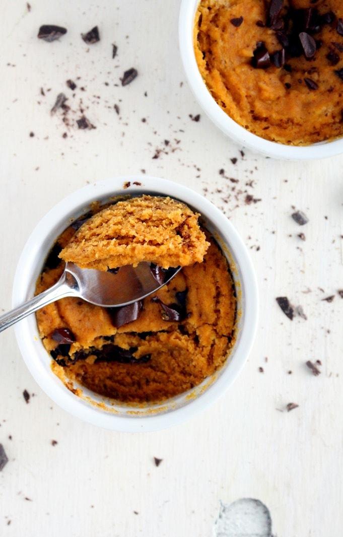 [Paleo] Pumpkin Chocolate Chip Mug Cake