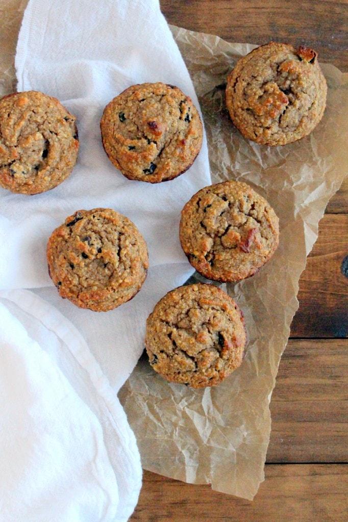 Cinnamon Raisin Almond Flour Muffins