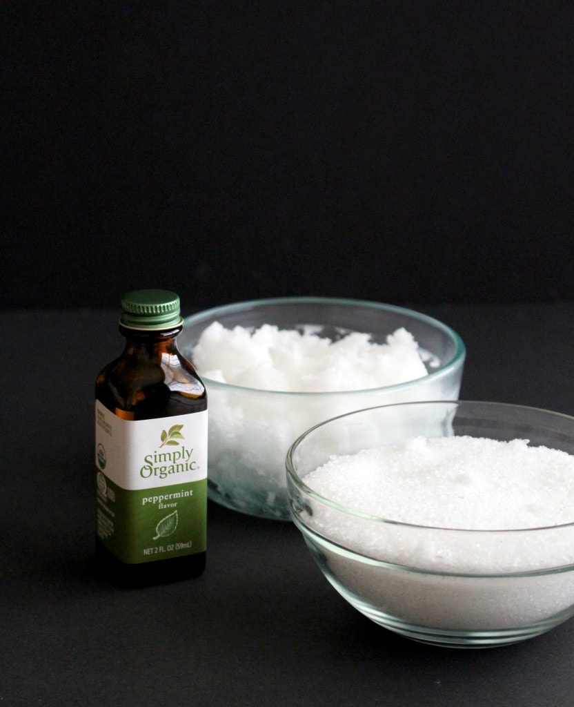 how to make peppermint sugar scrub with coconut oil