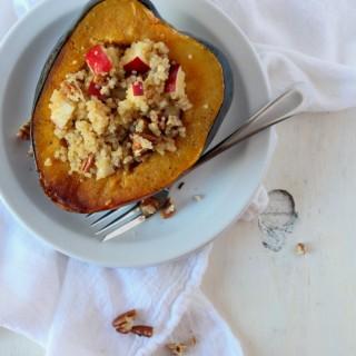 Quinoa & Apple Stuffed Acorn Squash