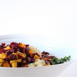 Warm Kale, Butternut & Quinoa Salad