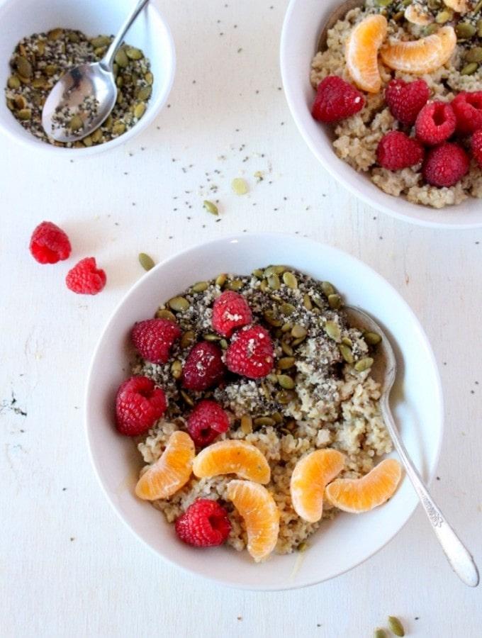 Quinoa Oat Breakfast Bowl