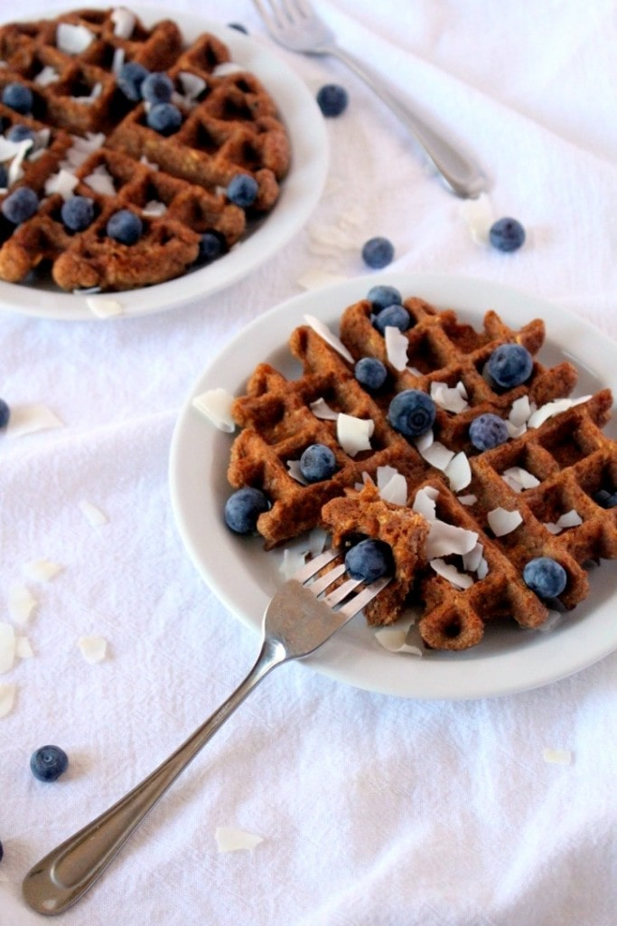 [Gluten-Free] Toasted Coconut Waffles - The Wheatless Kitchen
