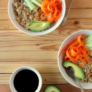 Deconstructed Vegetarian Sushi Bowl