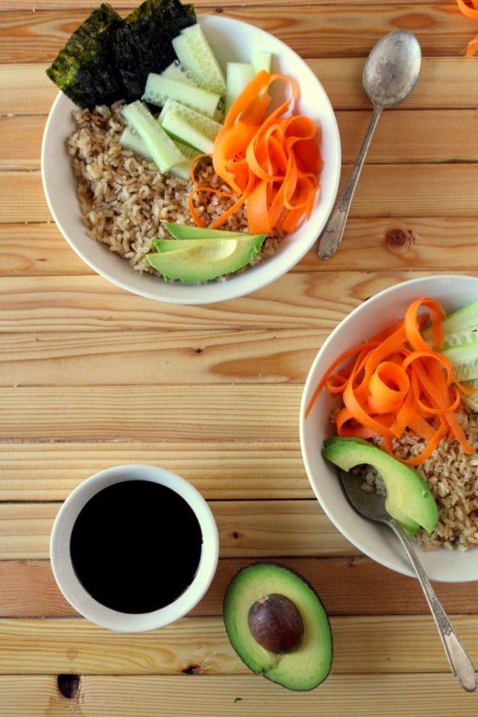 Deconstructed Vegetarian Sushi Bowl - The Wheatless Kitchen