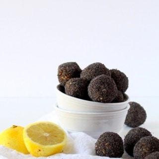 Lemon Poppy Seed Date Balls