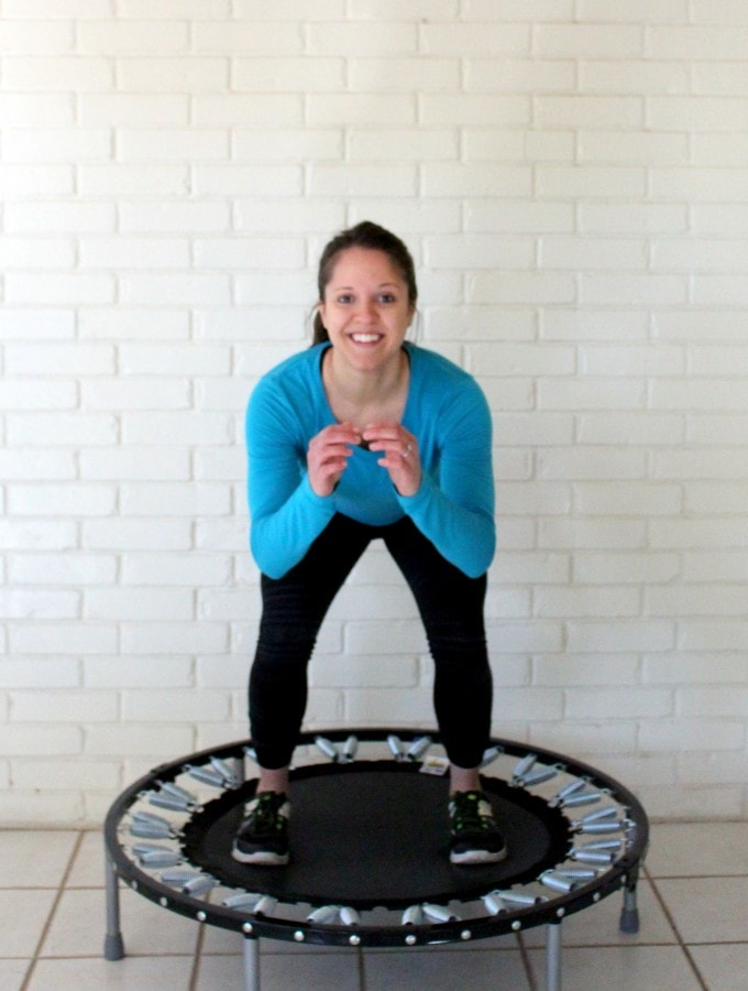 Rebounder workout lower body