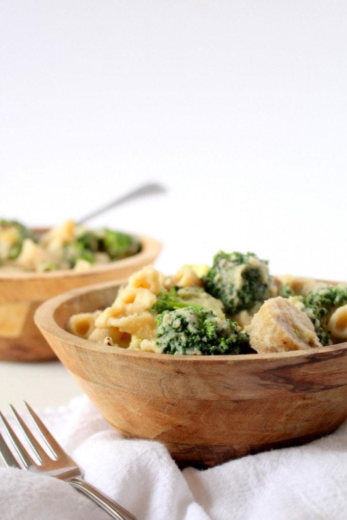 Pasta with Sausage, Broccoli & Creamy Cauliflower Sauce