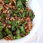 Warm Kale Salad with Wild Rice & White Beans