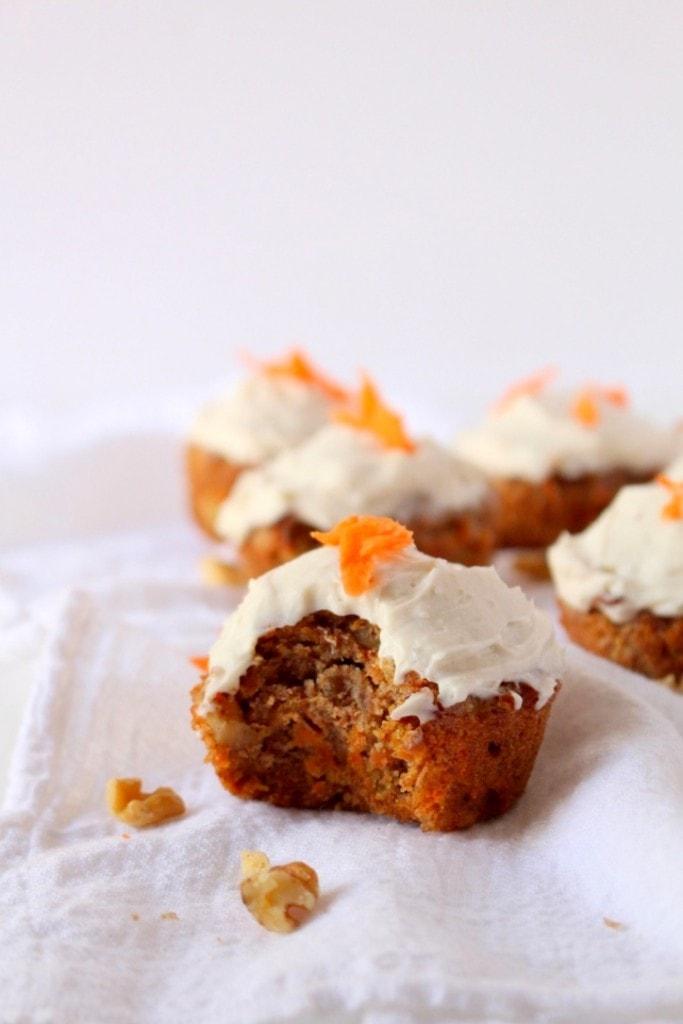 Grain-Free Carrot Cake Cupcakes