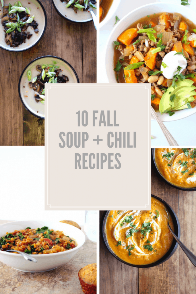 10 Fall Soup + Chilirecipes