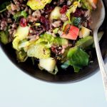 Wild Rice Salad with Roasted Brussles and Apples