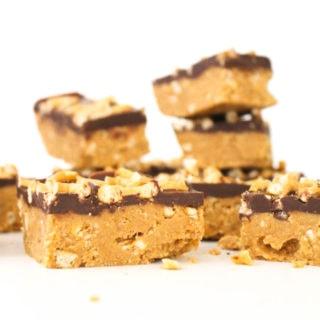 grain free peanut butter pretzel bars