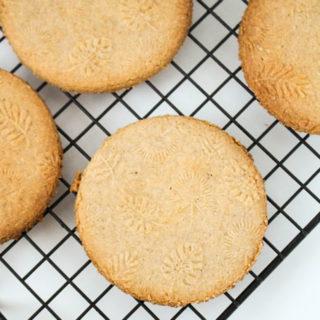 Chai Spiced Almond Shortbread Cookies