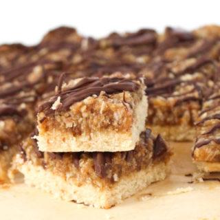 Grain-Free Samoa Cookie Bars