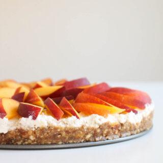 dairy-free raw peach tart