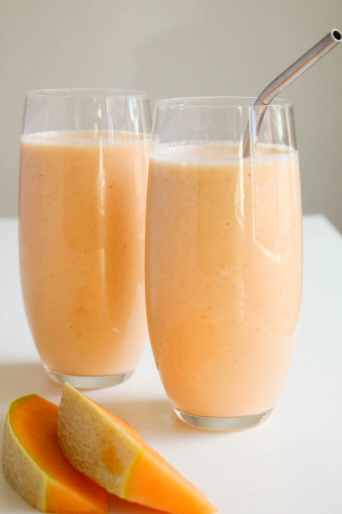 3 Ingredient Cantaloupe Smoothie The Wheatless Kitchen Strawberry cantaloupe smoothie is refreshing smoothie recipe, full of sweet fruity flavors. 3 ingredient cantaloupe smoothie the