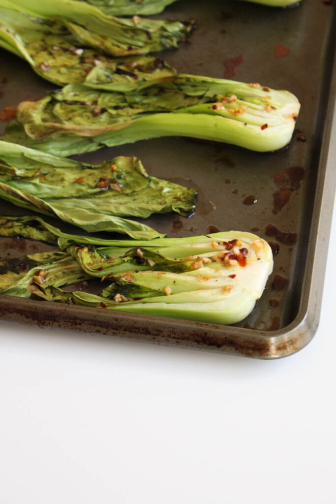 Spicy Roasted Bok Choy