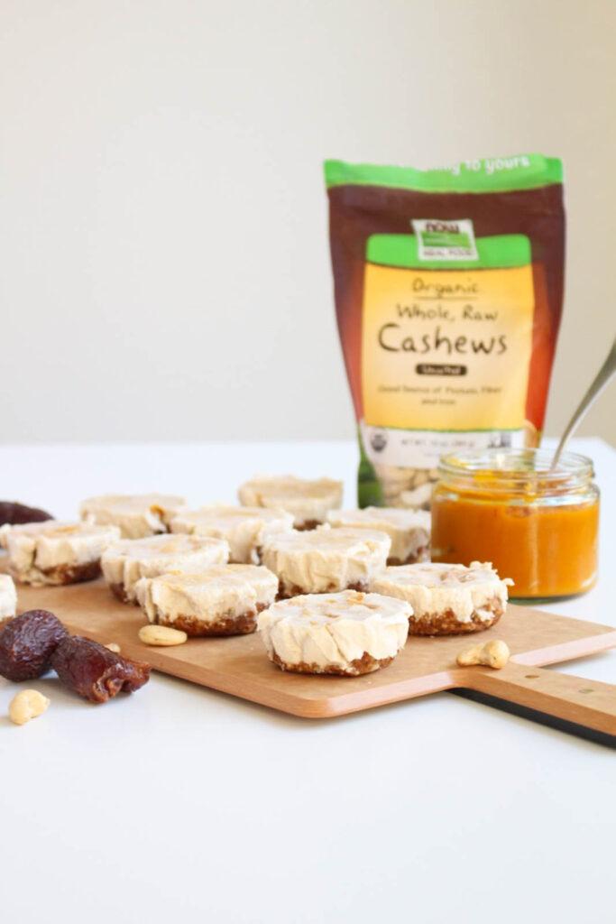 Raw [Vegan] Pumpkin Cheesecake Bites