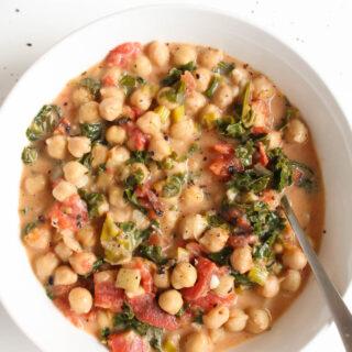 Coconut Kale Chickpea Soup
